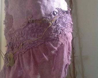 Purple haze, festival burning man clothing, tattered fairy SKIRT