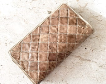 Palizzio Snakeskin Clutch Purse / Reptile Bag