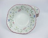 Johnson Bros. Summer Chintz Square Soup/Cereal Bowls (5) Made In England