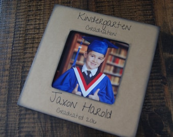 Kindergarten Graduation, Preschool Graduation, Graduation Picture Frame, Gift for Graduate, Personalized Graduation Gift