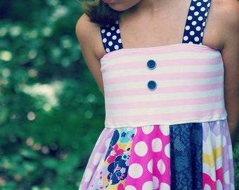 Girls Sewing Pattern, Easy Dress Pattern, Hipster Twister