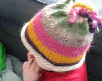 alpaca striped hat