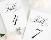 "Delicate Elegance Table Numbers - 4x6"""