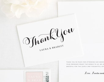 Romantic Script Thank You Cards