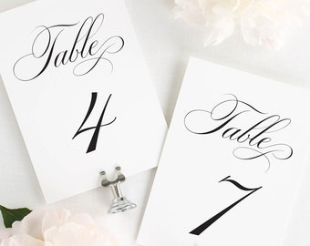 Delicate Elegance Table Numbers - 4x6""