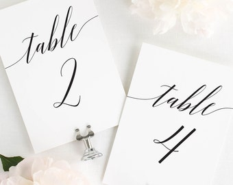 Daring Romance Table Numbers - 4x6""