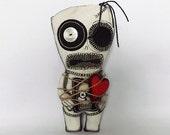 Valentines Voodoo Doll Gothic Zombie Doll Anti Valentines Day