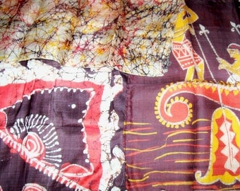 3 Antique 1920s India Silk Hand Rolled Hanky Handkerchief Scarves Made from Vintage Saris Lot 5