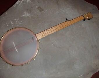 "Mahogany 5 String 12"" Open Back Banjo With Brass Hardware #39"
