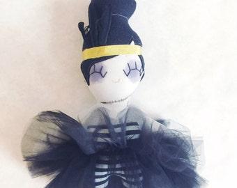 Zanna the Zombie Showgirl - Zombie Rag Doll - Ready to Ship