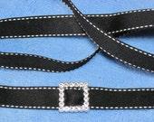 Black Stitched Ribbon - #557