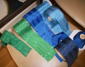 vintage moire taffeta ribbon