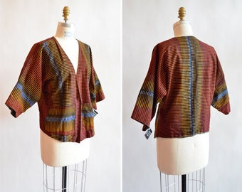 Vintage made in GHANA hand-printed cotton jacket