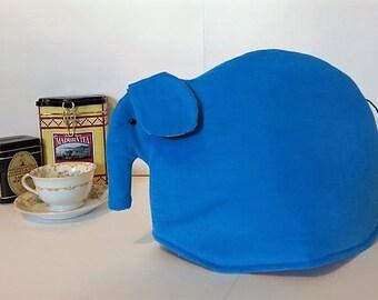 Elephant tea cozy, tea cosy: Eli the turquoise corduroy elephant tea cozy