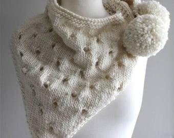 KNITTING PATTERN- The Lilith Shawl.  Scarf pattern.  Sarong.  PDF knitting pattern