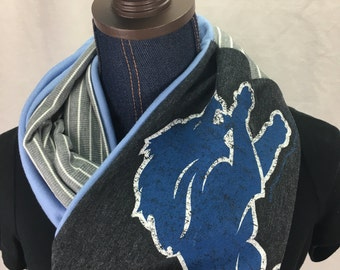 Detroit Lions Recycled T Shirt Infinity Scarf