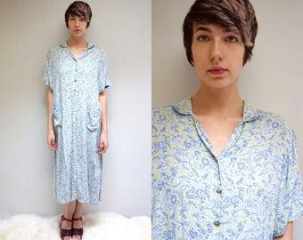 90s APRIL CORNELL Dress  //  Rayon Dress  //  90s Maxi Dress