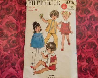 60's Vintage Toddler Sewing Pattern