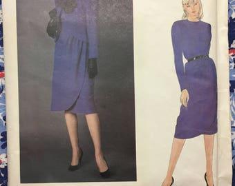 Vogue 2577 UNCUT Designer Pattern Size 10 Dress & Jacket Vogue Paris Original Pierre Balmain