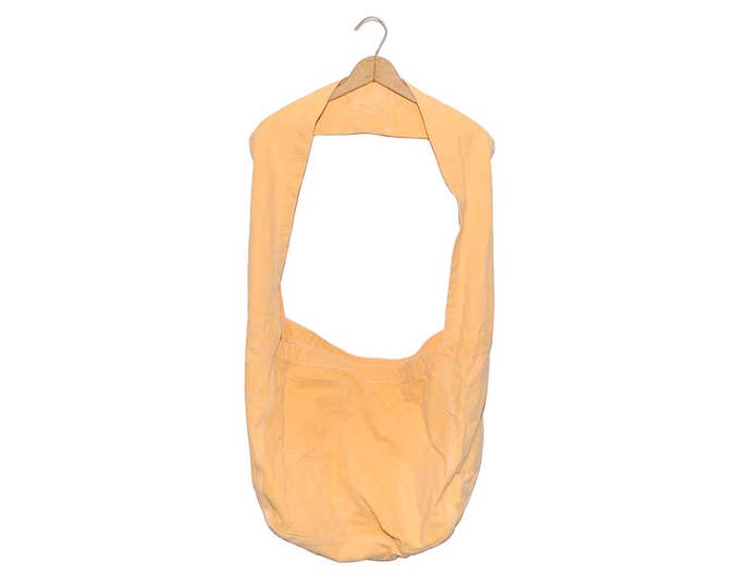 QMC Wide Strap Canvas News Paper Bag - Light Orange