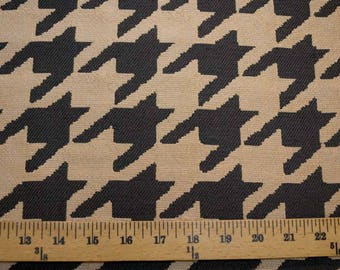 Large Houndstooth Black Fabric
