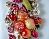 Vintage Christmas Decorations Glass Baubles Ornaments set of 20 Set 45 1970s from Russia Soviet Union USSR