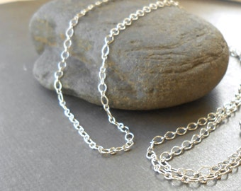 Sterling Silver Necklace Chain, 1.9mm Long And Short Finished Chain