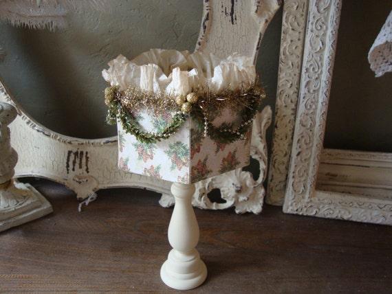Items similar to christmas table decor shabby chic