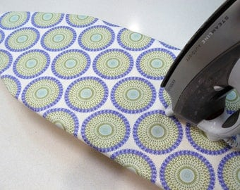 Ironing Board Cover TABLE TOP - lavender and sage flowers in circular pattern