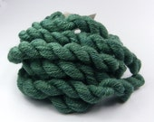 Embroidery yarn, hand-dyed with natural dyes, wool, silk, cashmere thread, embroidery floss, 20m, YARROW and INDIGO, green color 210