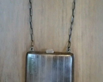 Antique Sterling Silver Compact / Dance Purse