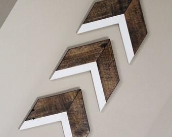 Arrow Wall Decor Trio | Chevron Wall Decor | White Arrows