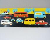 Vintage wooden Galt traffic tray jigsaw puzzle