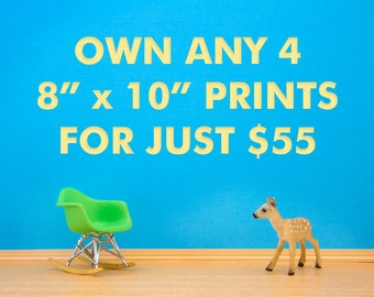 """Own any four 8"""" x 10"""" Stories For Toys print for a special low price."""