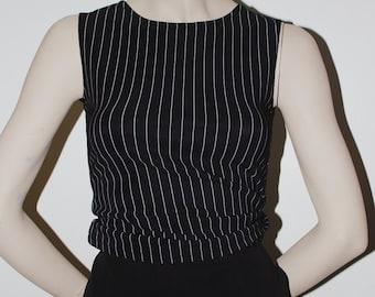 XS Black Striped Top - USA Made