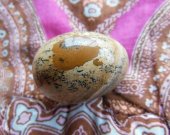 FLAWLESS Genuine Dendritic Picture Jasper Crystal Undrilled Egg Reiki Healing Medium Small