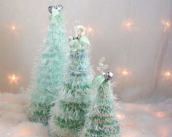 2016 Holiday SALE Christmas Trees The Mint Felted Forest OOAK