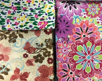 Floral Fabric Destash - Over 7.5 Yards Prewashed Quilt Shop Quality Fabric