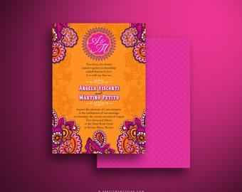 STEFANIE Festive Paisley Indian Wedding Invitation