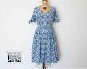 ON SALE - Vintage 50s Dress - 1950s Day Dress - The Reese