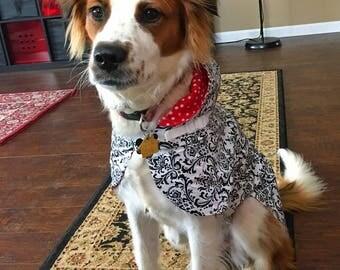 Dog Rain Jacket, harness built in, hooded, Dog Rainjacket, Dog Coat, Dog Jacket, Dog Jackets