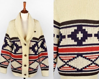 Rare 1960's Pendleton Cowichan Sweater || Knockabouts Cardigan || Great Vintage Condition