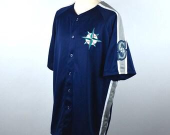 Seattle Mariners Jersey by Majestic, Size XL
