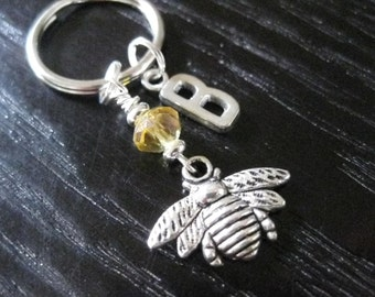 Personalized Honey Bee - Key Ring