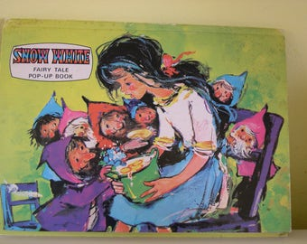 Vintage Snow White and the Seven Dwarves Pop-Up Book