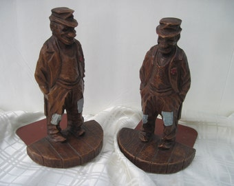 Syroco Wood Hobo Bookends