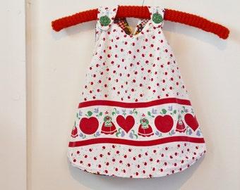Handmade Swing Top Vintage Fabric Reversible Toddler Girls