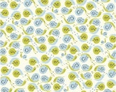 SALE *** Far Far Away Snails in Blue 1 yard - by Heather Ross for Windham Fabrics