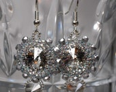 Antique Silver Crystal Earrings