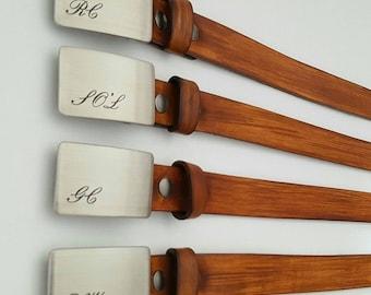 Custom Listing----6 Wedding Buckles w/ Wood Grain Belts
